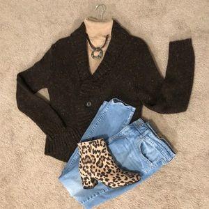 Chaps cardigan, size large